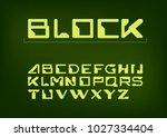 futuristic font. cosmic font....   Shutterstock .eps vector #1027334404