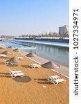 artificial beach in kentpark... | Shutterstock . vector #1027334971