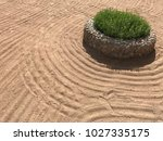 sand on the beach  in the... | Shutterstock . vector #1027335175