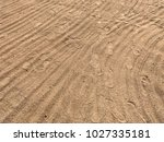 sand on the beach  in the... | Shutterstock . vector #1027335181