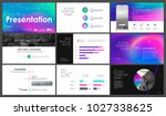 presentation template with a... | Shutterstock .eps vector #1027338625