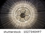Crystal chandelier close up....