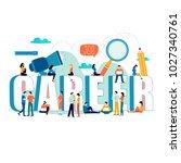 job search  recruitment  hiring ...   Shutterstock .eps vector #1027340761