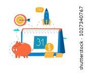 financial calendar  financial...   Shutterstock .eps vector #1027340767