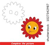 drawing worksheet for preschool ...   Shutterstock .eps vector #1027342987