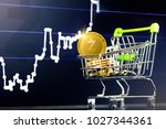 shopping cart  trolley  with... | Shutterstock . vector #1027344361
