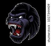 gorilla vector illustration....   Shutterstock .eps vector #1027344409