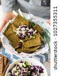 crispy flax seeds bread dried...   Shutterstock . vector #1027355311