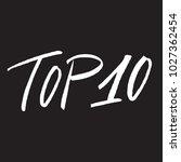 top 10  text design. vector...   Shutterstock .eps vector #1027362454