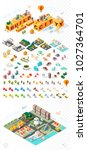 build your own city . set of... | Shutterstock .eps vector #1027364701