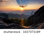 beautiful view point sunset of... | Shutterstock . vector #1027372189