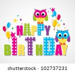 happy birthday card | Shutterstock .eps vector #102737231