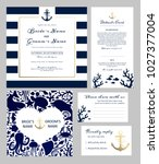 set of templates for wedding...   Shutterstock .eps vector #1027377004