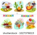 festa junina isolated mini...   Shutterstock . vector #1027378015