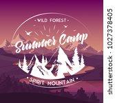 summer camp travel agency wild...   Shutterstock . vector #1027378405