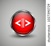 arrow icon on red glossy button.... | Shutterstock .eps vector #1027390729