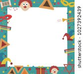 frame with purim holiday flat... | Shutterstock .eps vector #1027392439