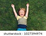 Happy Child Having Fun Outdoors....