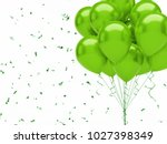 green baloons on the top right... | Shutterstock . vector #1027398349