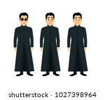 cool men  in flat style... | Shutterstock .eps vector #1027398964