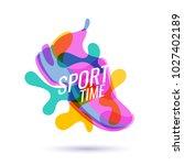 modern colored poster for... | Shutterstock .eps vector #1027402189