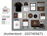 corporate identity template set ... | Shutterstock .eps vector #1027403671