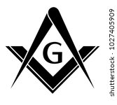 freemason logo vector | Shutterstock .eps vector #1027405909
