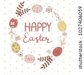 Easter Wreath With Eggs ...