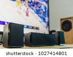 home theater speakers with a... | Shutterstock . vector #1027414801