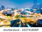 train tunnel double exposure...   Shutterstock . vector #1027418089