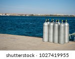 group eight cylinders with air. ...   Shutterstock . vector #1027419955