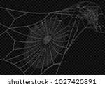 collection of cobweb  isolated... | Shutterstock .eps vector #1027420891