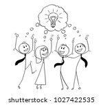 cartoon stick man drawing... | Shutterstock .eps vector #1027422535