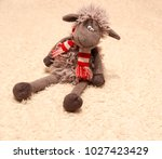 Children's Toy. The Plush Lamb.