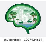 concept of eco with building... | Shutterstock .eps vector #1027424614