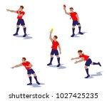 vector illustration from soccer ... | Shutterstock .eps vector #1027425235