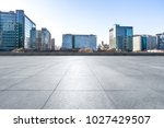 empty marble with modern office ... | Shutterstock . vector #1027429507