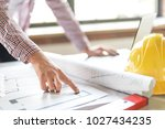 architect working with... | Shutterstock . vector #1027434235