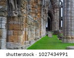 graceful arches of the whitby... | Shutterstock . vector #1027434991