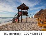 playa paraiso  mexico  ... | Shutterstock . vector #1027435585