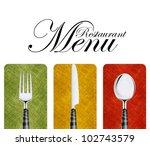 restaurant menu cover design... | Shutterstock . vector #102743579