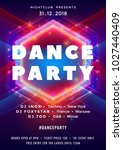 dance party poster vector... | Shutterstock .eps vector #1027440409