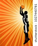 basketball player on the... | Shutterstock .eps vector #1027440781