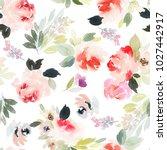 seamless summer pattern with... | Shutterstock . vector #1027442917