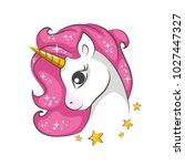 cute little pink  magical... | Shutterstock .eps vector #1027447327