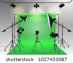 photography studio vector.... | Shutterstock .eps vector #1027453087