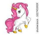 cute little pink  magical...   Shutterstock .eps vector #1027453909