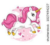cute little pink  magical... | Shutterstock .eps vector #1027454227
