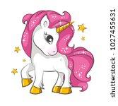 cute little pink  magical... | Shutterstock .eps vector #1027455631