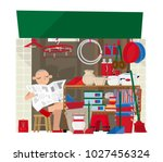 vector illustration of a small... | Shutterstock .eps vector #1027456324